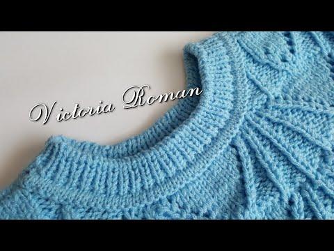 Pulóver tricotat circular