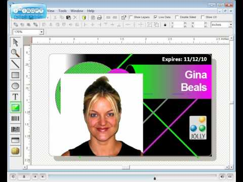 photo id badge design software id flow jolly technolgoy youtube