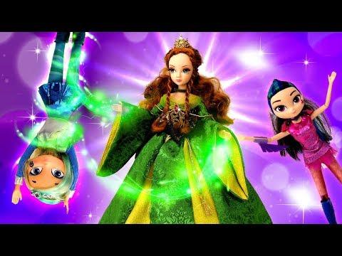Сказочный патруль и лесная фея. Видео для девочек с куклами.