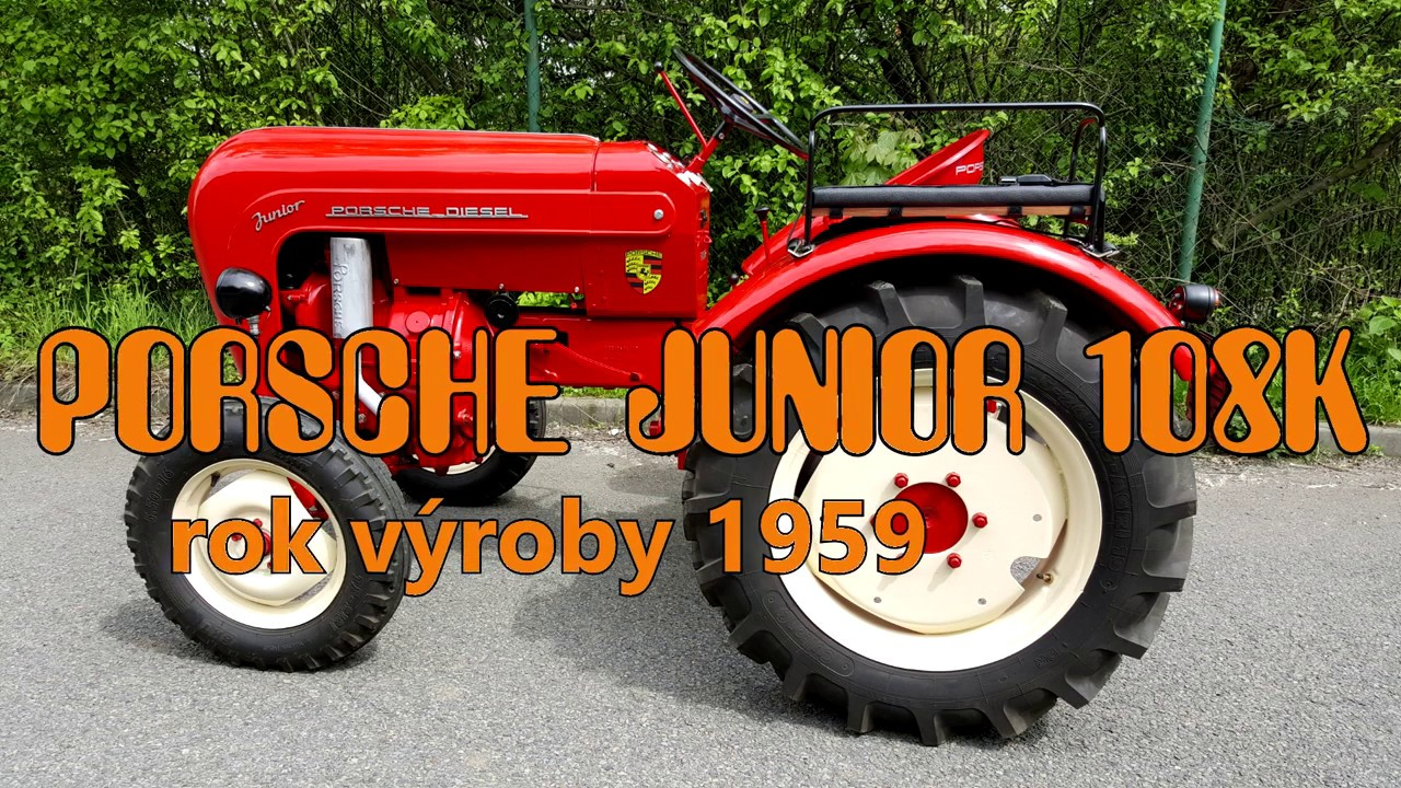 traktor porsche junior 108k rok v roby 1959 youtube. Black Bedroom Furniture Sets. Home Design Ideas