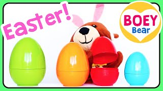 🐻 Easter for TODDLERS! | Easter Videos & Songs | Easter Egg Videos for Toddlers | Boey Bear