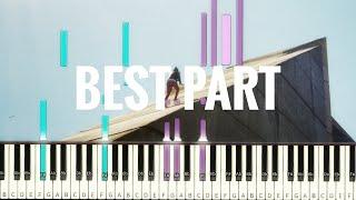 Download Lagu Daniel Caesar - Best Part (feat. H.E.R.) [#reggiewatkins piano synthesia tutorial] Mp3