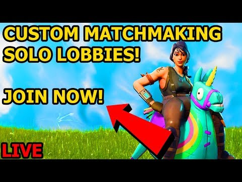FORTNITE CUSTOM SOLOS! CUSTOM MATCHMAKING LIVE! *NEW* UPDATE! thumbnail