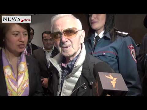 Charles Aznavour Arrives In Armenia To Take Part In Genocide Centennial Commemoration Ceremonies