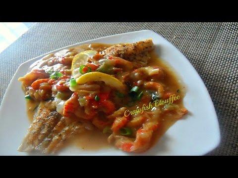 Crawfish Étouffée Over Baked Cajun Catfish Recipe