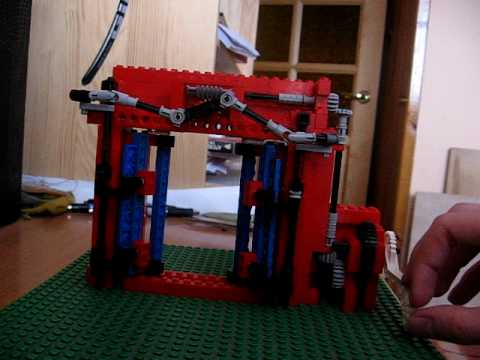 Lego Tram Bus Doors Working Mechanism Youtube