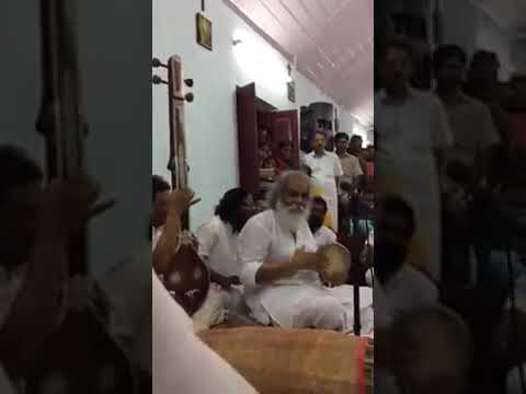 Rare Moment - Dr KJ Yesudas playing Khanjira in his Recent Concert
