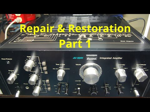 Sansui AU-9900 Vintage Stereo Integrated Amplifier Repair And Restoration. Fixing Old Audio - Part1