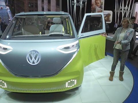 A bord du Volkswagen I.D. BUZZ au Salon de Détroit 2017