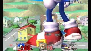 Brawl Hacks - Giant Growing Sonic v.s. Star Fox