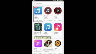 tutorial mengunduh aplikasi music player audio player di play store