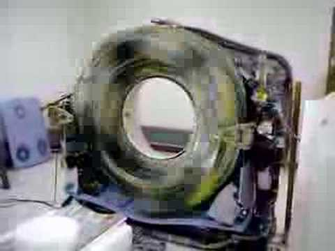 CT Scanner without a cover moving at full speed