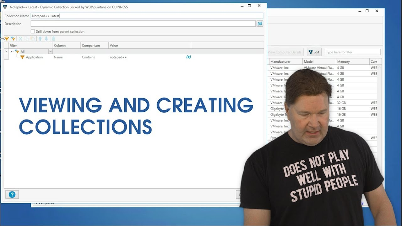 Viewing and Creating Collections in PDQ Inventory