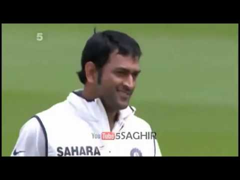 Indian wicket keeper MS Dhoni gets Kevin Pietersen Wicket India VS England Test Series 2011