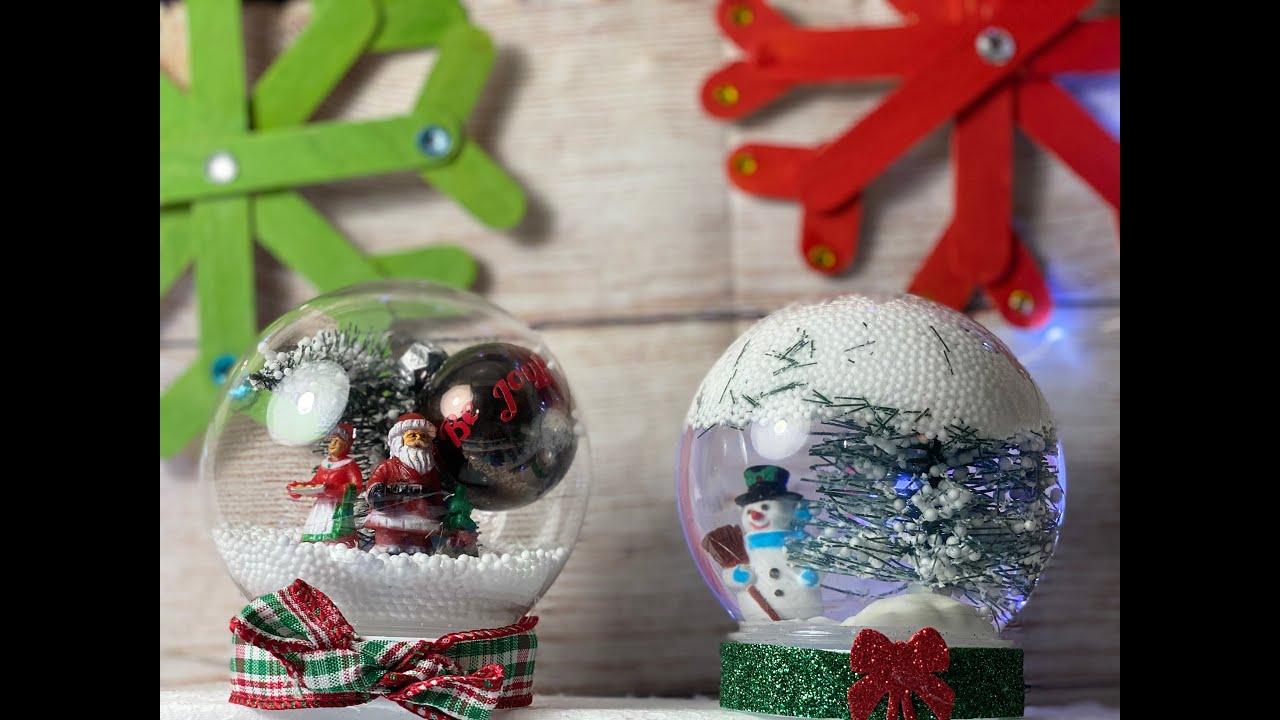 DIY Snow globe | Dollar tree Christmas craft