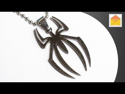 The Amazing Spider Man Symbol Logo Insignia Marvel Comics Metal Necklace Pendant