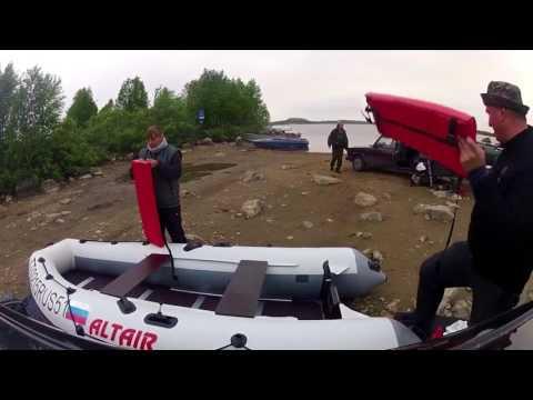 Альтаир PRO-360 первый спуск на воду, обкатка Honda 15 и немного рыбалки