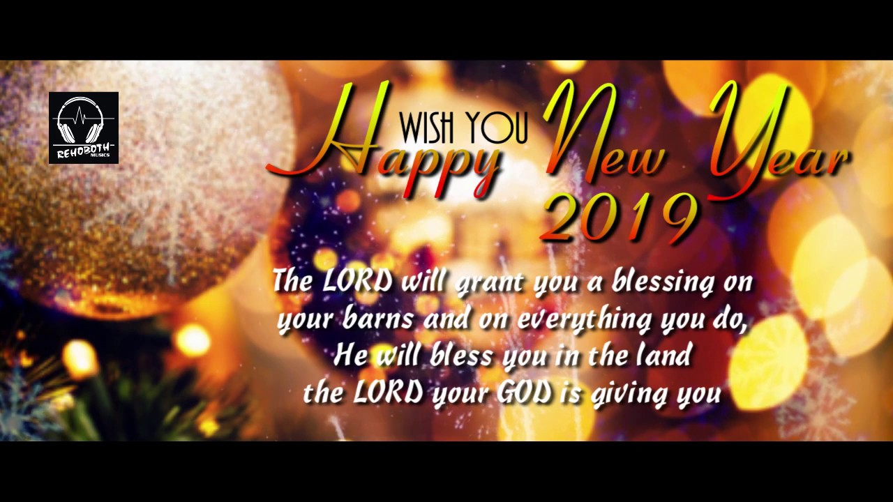 Happy New Year 2019 Wish & Blessing Bible Word English l ...