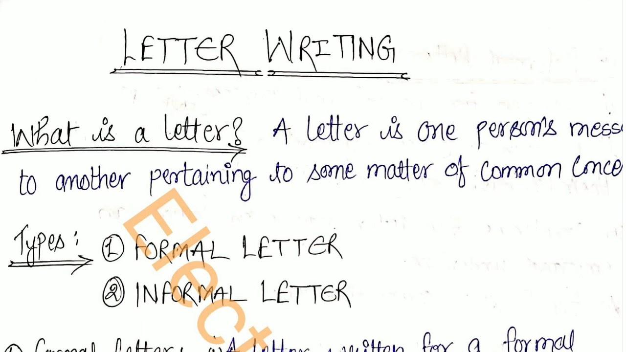 Letter Writing :- #Formal & #Informal #LetterWriting #पत्रलेखन