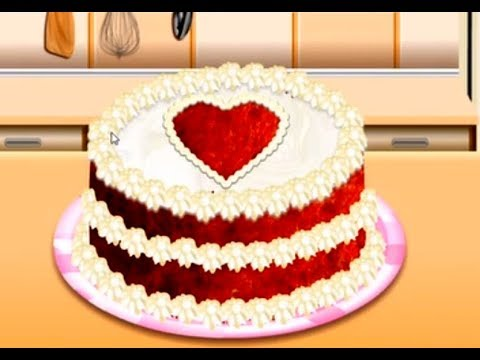 RED VELVET CAKE - Sara's Cooking Class  - Fun Cooking Games