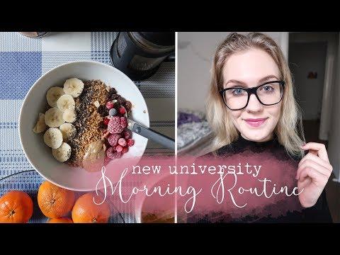 NEW UNIVERSITY MORNING ROUTINE // Glasgow University