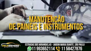 Velomotors Velocimetro manutenção conserto painel carro e moto