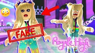Cybernova CAUGHT ME Pretending to be HER!! | Roblox Royale High Roleplay