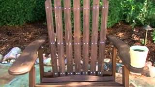 Grand Daddy Oversized Adirondack Chair With Pull Out Ottoman Dark Brown - Product Review Video