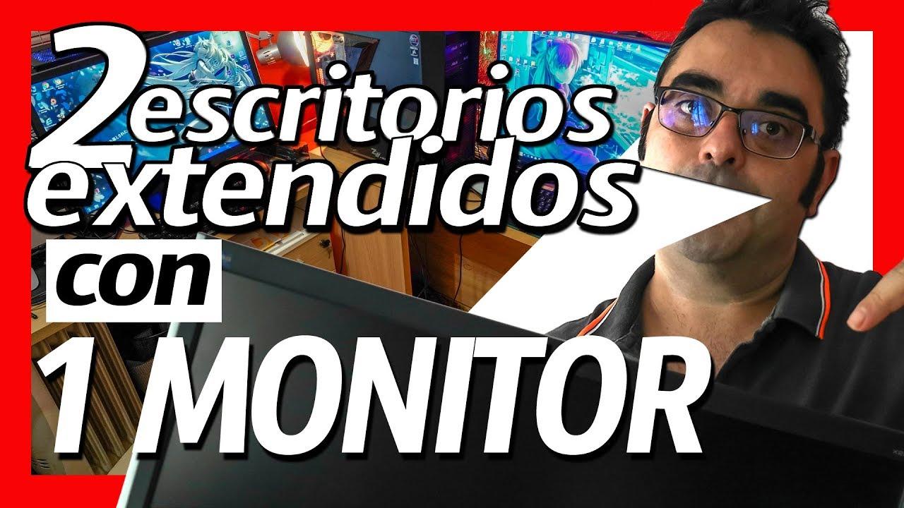 Doble setup con sólo 1 monitor extra [CASI EXPLOTO] 💥 🔥   escritorios virtuales windows 10