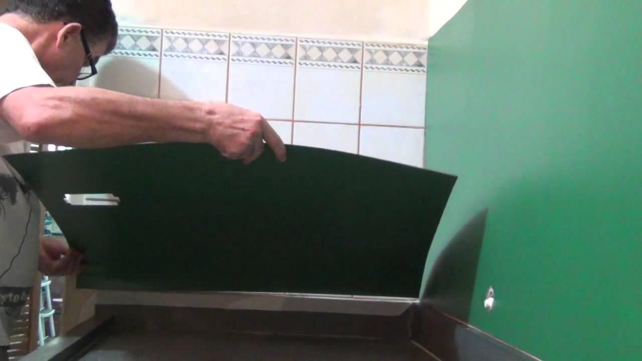 Acabamento em f rmica 02 revestir azulejo youtube - Como tapar azulejos ...