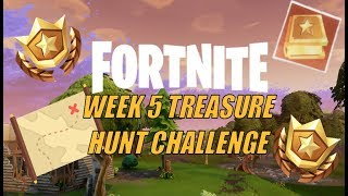 FORTNITE WEEK 5 ANARCHY ACRES FOLLOW THE MAP TREASURE HUNT CHALLENGE | WEEK 5 BATTLEPASS CHALLENGE