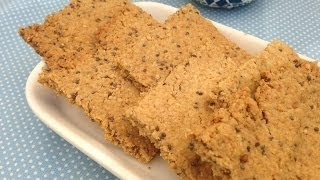 Oatmeal Crackers With Olive Oil And Seeds