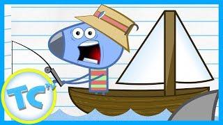 KIDS CARTOON! ToonCornerDoodles! Boat part 1!