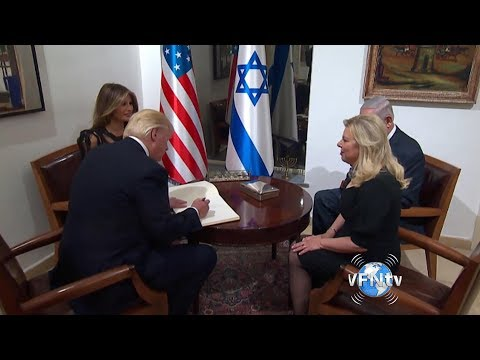 PM Netanyahu welcomes President Trump and First Lady to their home; and President Trump prays at Wes