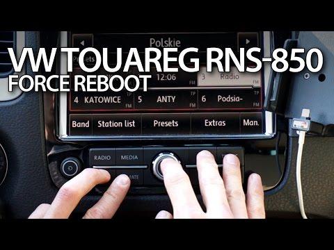 Volkswagen Touareg RNS 850 green menu   Doovi