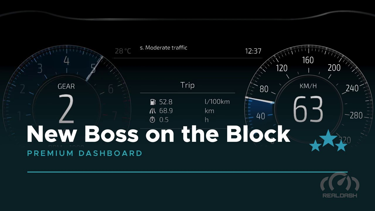 'New Boss on the Block' Premium dashboard for RealDash