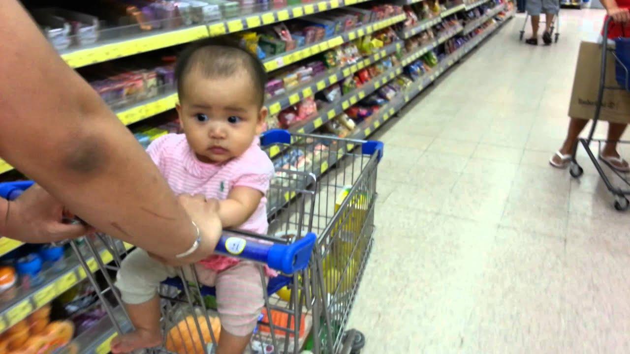 c4e8618a7050 Baby Hazel shopping at supermarket (3 8 2013) - YouTube