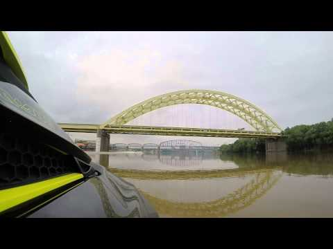 Scenic Ride Down the Ohio River on a SEADOO in HD