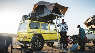 homepage tile video photo for Camping in Extreme Desert Heat with my Mercedes 4x4 G-Wagon!