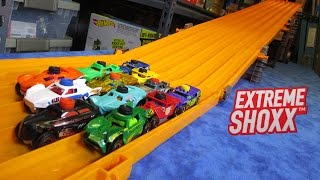 extreme shoxx downhill racing rip rod and rip shredder hot wheels super 6 lane raceway