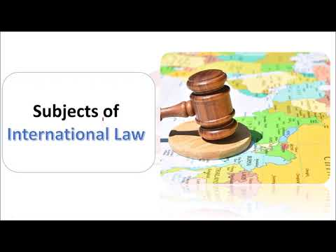 Subjects of International Law- International Law | NTA UGC NET | Defence and Strategic Studies
