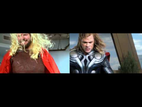 The Avengers Trailer #2 - sweded side-by-side comparison