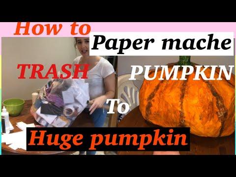 How To Make A Paper Mache Pumpkin - Easy Halloween Diy