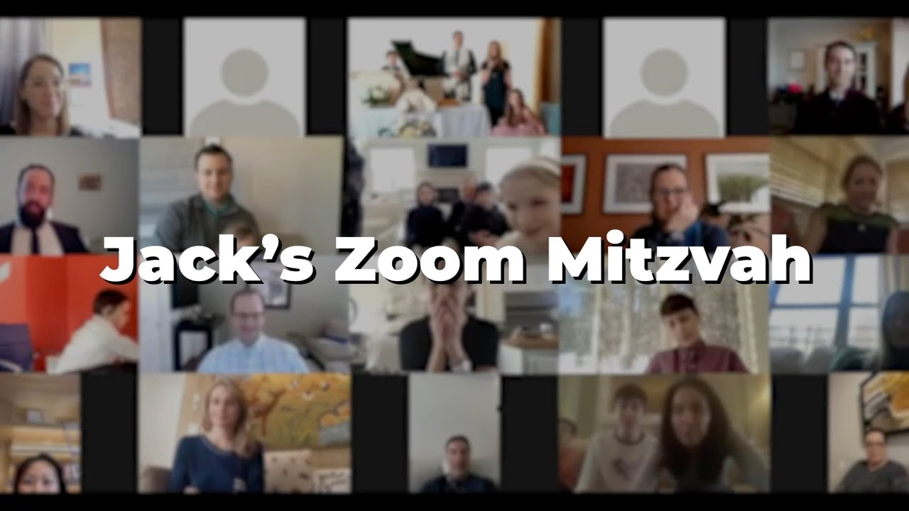 Jack's Zoom Mitzvah Highlights