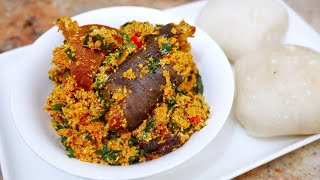 HOW TO COOK RICH EGUSI SOUP | 3 VEGETABLES | COOK WITH ME