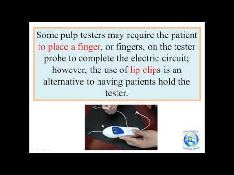 DR MAZEN DOUMANI   ELECTRIC PULP TEST