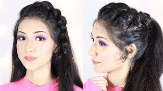 New Ponytail Hairstyle For Indian School or College Girls | Hair Style Girl | Ponytail Hairstyles