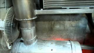 печка на жидком топливе (отработанных маслах, солярке, керасине)