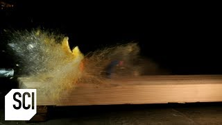 Foam Darts Slay Fruit in Slo-Mo | Outrageous Acts of Science