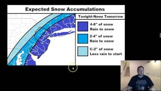 Feb 4: Final Snow Map for Incoming Coastal Snow Storm